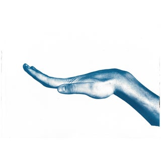 Cyanotype Print - Bent Hand Photo