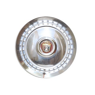 Mid-Century Modern Vintage Ford Chrome Hubcap