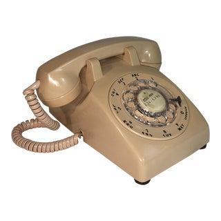 Vintage Taupe Rotary Telephone