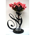 "Image of Love Collection 12"" Black Metal Vase"