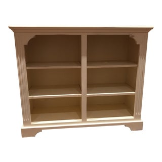 Cream Painted Wood Bookcase