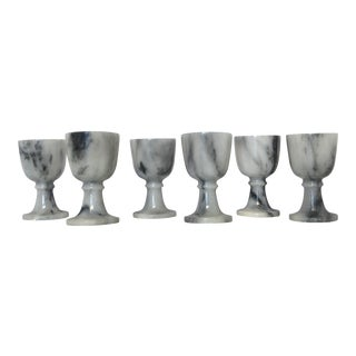 Polished Marble Goblets - Set of 6