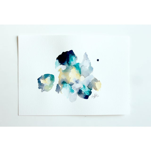 "Ellen Sherman ""Color Study 2"" Watercolor Painting - Image 2 of 4"