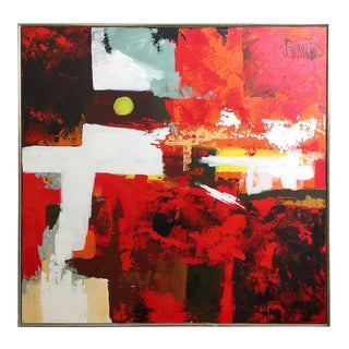 1960s Abstract Oil Painting by Lee Reynolds