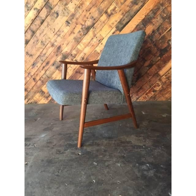 Adolf Relling Mid-Century Refinished Gray Chair - Image 2 of 6