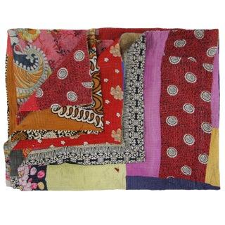 Multipatch Vintage Kantha Quilt