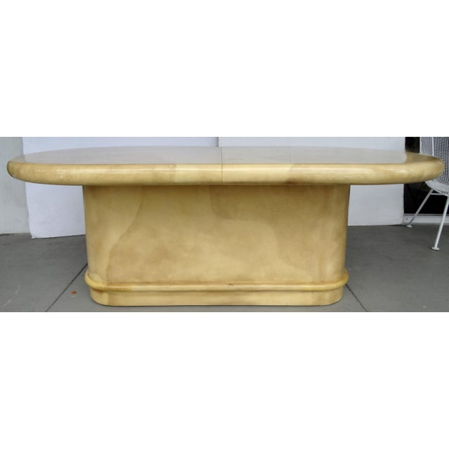 Image of Lacquered Parchment Extension Table