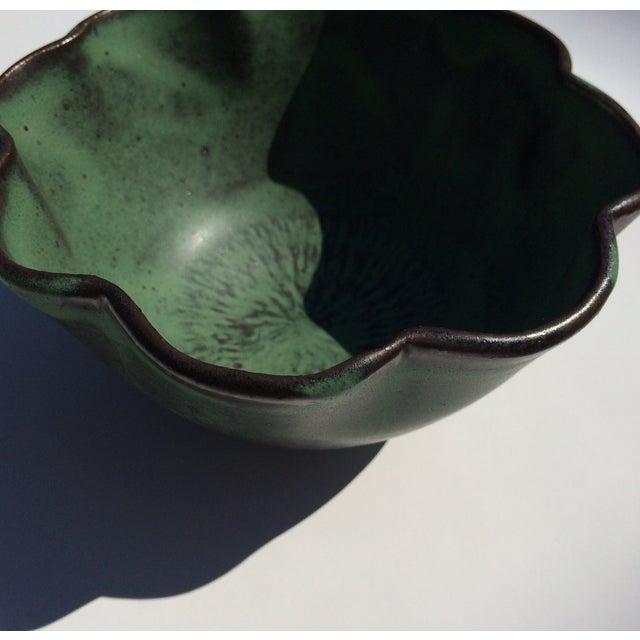 Image of Studio Rosette Flower Green Ceramic Bowl