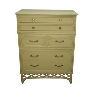 Ficks Reed Vintage Painted Tall Chest