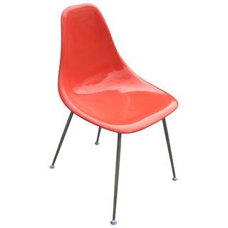 Orange Burke Eames Style Side Chair