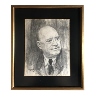 1970s Male Pencil Portrait Drawing