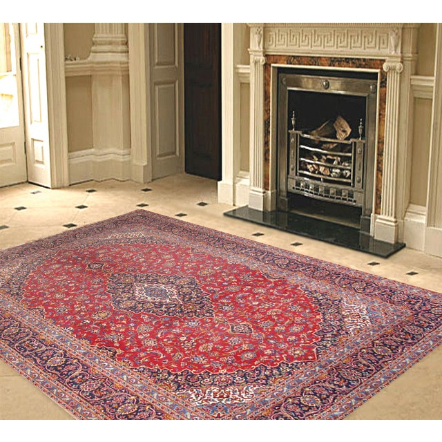 "Pasargad Kashan Collection Rug - 9'10"" X 13'1"" - Image 2 of 2"