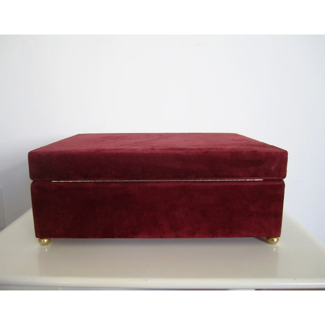 Mark Cross Italian Suede & Leather Jewelry Box - Image 8 of 10