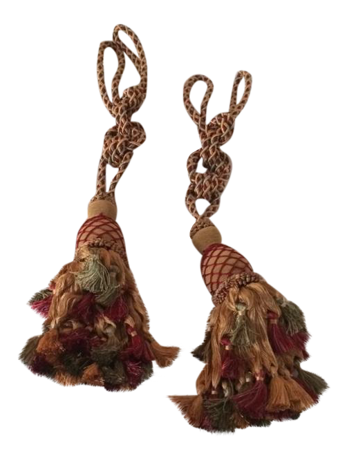 Large Tassels Home Decor: French Style Large Tassels - Set Of 4