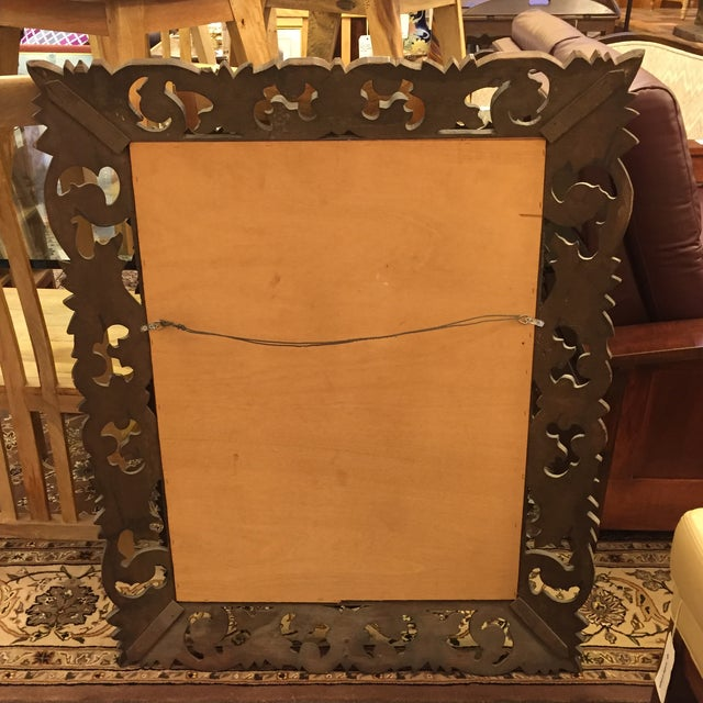 Image of Oversize Baroque-Style Carved Wood Mirror