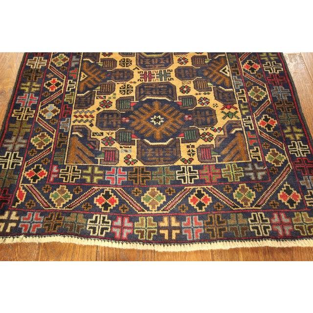 """Tribal Baluch Wool Runner Rug - 2'9"""" x 10' - Image 7 of 9"""