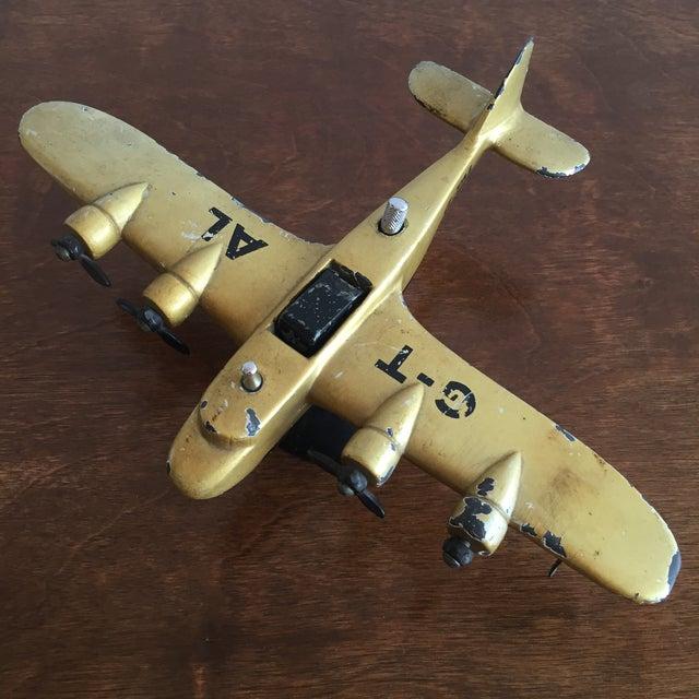 Art Deco Cast Iron Airplane Lighter - Image 2 of 7