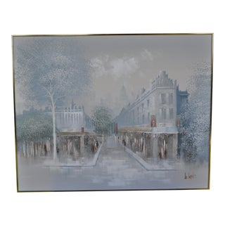 Lee Reynolds Mid-Century Cityscape, Oil Painting