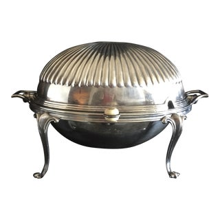 Silver Fluted Roll-Top Breakfast Dish