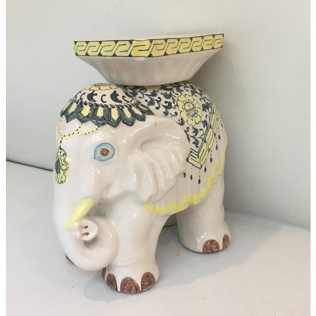 Elephant Garden Stool Side Table - Image 3 of 7