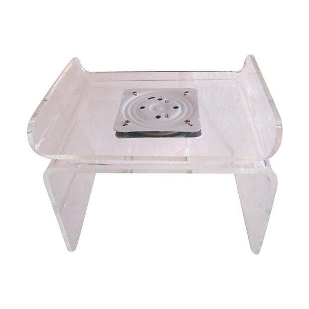 Lucite Swivel Top Bench - Image 2 of 4