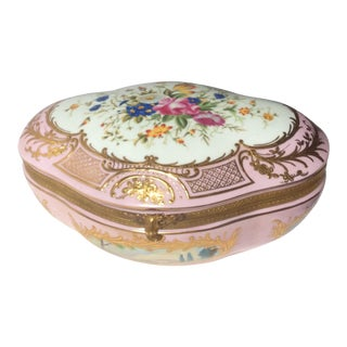 European Porcelain Jewelry Box