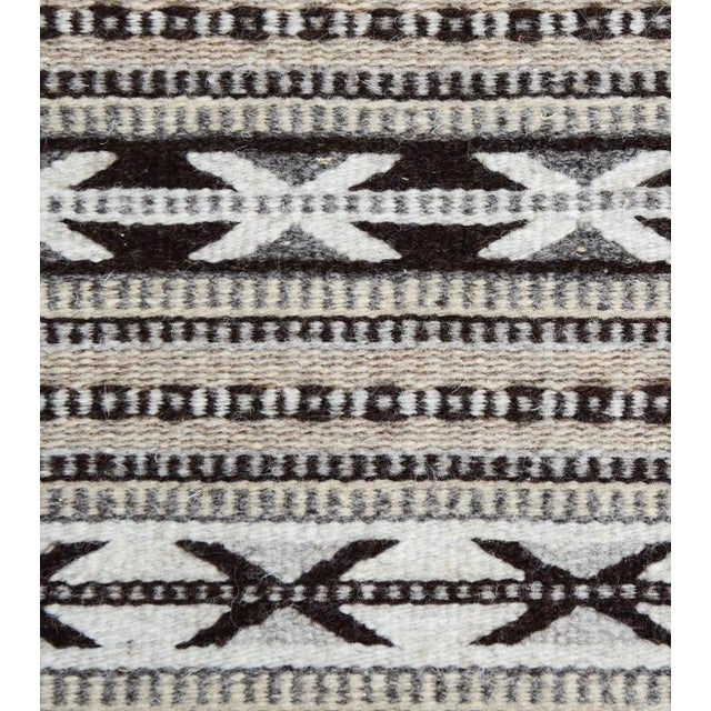 Image of Grey Handwoven Oaxaca Wool Rug - 2′ × 3′