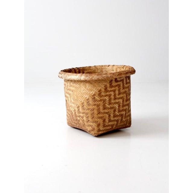 Vintage Indonesian Basket - Image 3 of 9