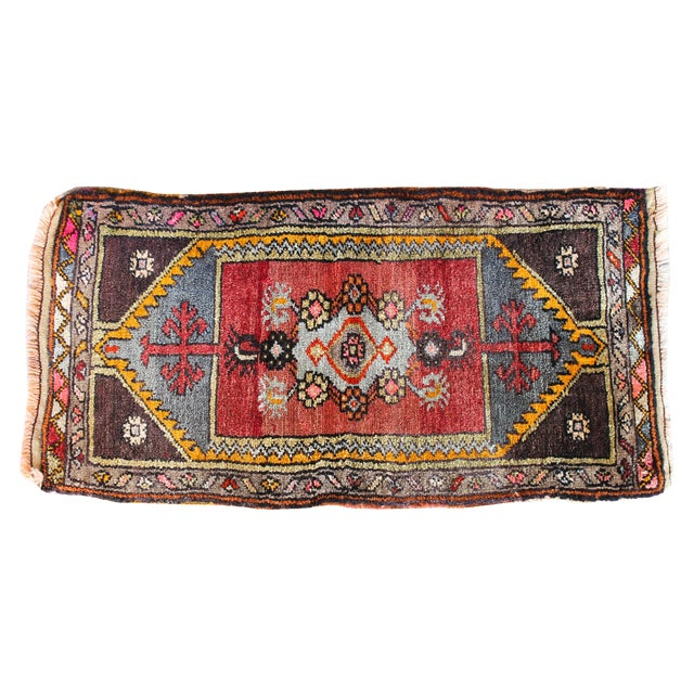 Soft Colorful Turkish Foot Rug - 1′6″ × 2′11″ - Image 1 of 4