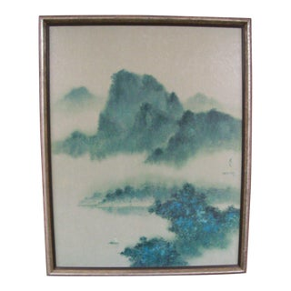 1973 David Lee Asian Zen Water and Mountain Giclee Print