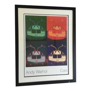 Vintage Andy Warhol Mercedes Benz Poster