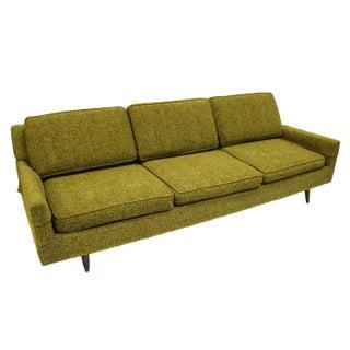 Mid-Century Modern Green Upholstered Sofa