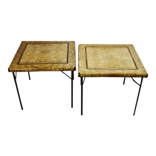 Vintage 7700 Series Shwayder Brothers Samson Folding Card Tables - A Pair