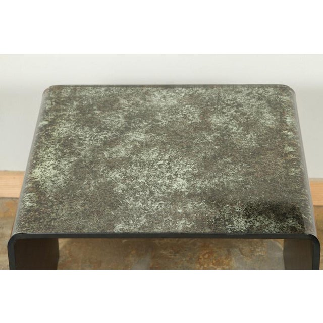 Waterfall Reverse Painted Glass Side Table - Image 5 of 6