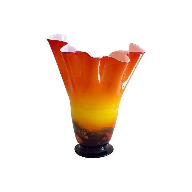 Image of Sunset Art Glass Vase