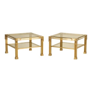 Solid Brass Coffee Tables - A Pair