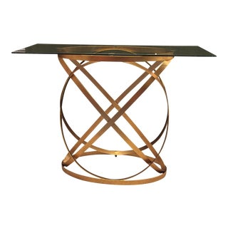 Modern Oval Metal Belt Console by Bungalow 5