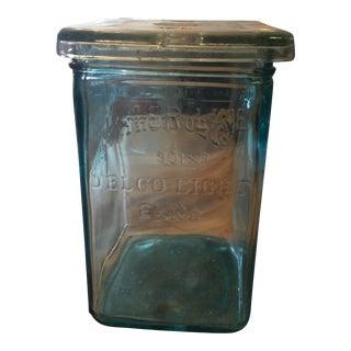 Delco Light Exide Square Jar