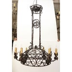 Image of 1940's Wrought Iron Chandelier