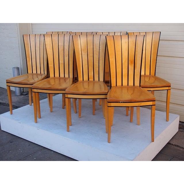 Eliel Saarinen Tall Back Chairs Set Of 6 Chairish