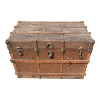Antique Metal & Wood Trunk