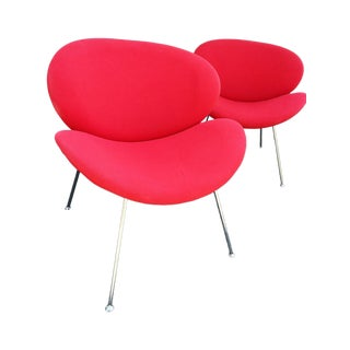 Modern Red Slice Chairs - A Pair
