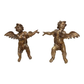 18th Century Angels on Lucite Stands - A Pair
