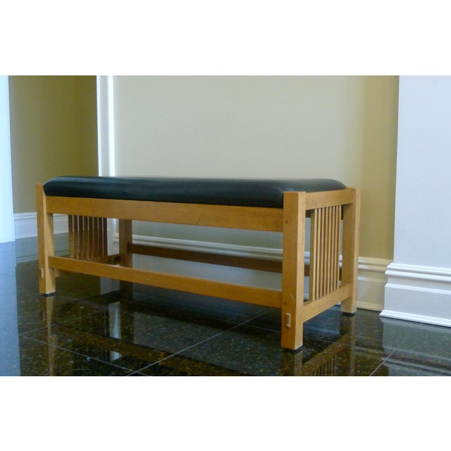 Stickley Mission Oak Spindle Bench Chairish