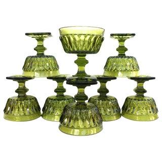 Vintage Green Glassware/Set of 8