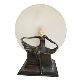 Art Deco Dav Art Figural Accent Lamp