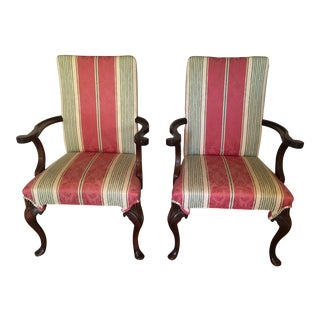 Hickory Chair Queen Anne Side Chairs - A Pair