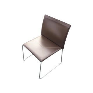 Pellizzoni Bizzy Leather Stacking Chairs - Set/10