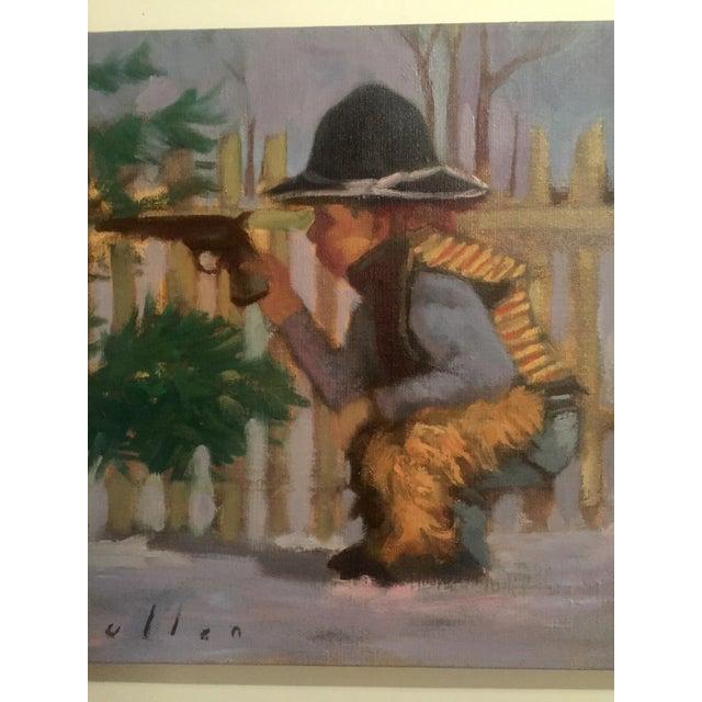 "Image of Mark Pullen ""Little Boy"" Original Oil Painting"