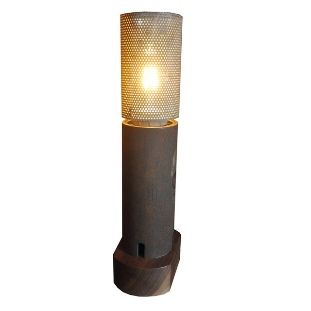 Image of Ted Harris Pipe and Mesh Lamp